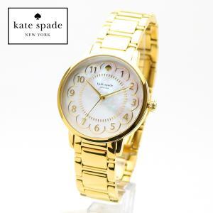 kate spade  1YRU0789  ケイトスペード 女性用 腕時計 Gramercy グラマシー イエローゴールド ホワイトパール レディースウォッチ ブレスレット|around