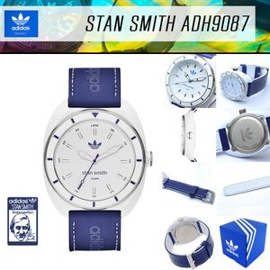ADIDAS アディダス 腕時計 スタンスミス ADH9087 レザーベルト ホワイト ブルー 白 青 スポーツウォッチ アナログ|around