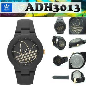 アディダス adidas ADH3013  腕時計 40mm ボーイズサイズ スポーツウォッチ アバディーン ABERDEEN ブラック/黒・ゴールド/金|around
