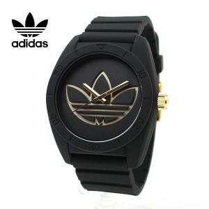 ADIDAS(アディダス)腕時計 スポーツウォッチ ミドルサイズ ブラック ゴールド SANTIAGO サンティアゴ ADH3197 黒 金 ボーイズサイズ|around