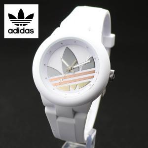 アディダス adidas ADH9084 限定モデル トレフォイル ロゴ 40mm ボーイズ ミドルサイズ アバディーン ABERDEEN シルバー ピンクゴールド ゴールド・ホワイト|around