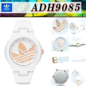 アディダス adidas ADH9085 限定モデル トレフォイル ロゴ 40mm ボーイズ ミドルサイズ アバディーン ABERDEEN  ピンクゴールド ローズゴールド・ホワイト|around
