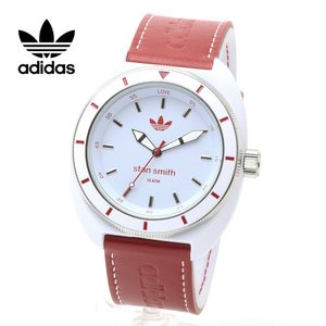 ADIDAS アディダス 腕時計 スタンスミス ADH9088 レザーベルト ホワイト レッド 白 赤 スポーツウォッチ アナログ|around