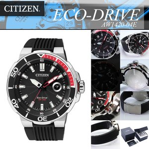 安心2年保証 CITIZEN PROMASTER エコドライブ AW1420-04E シチズン プロマスター ダイバーズ メンズ・男性用腕時計 ソーラー 黒 ブラック ラバー|around