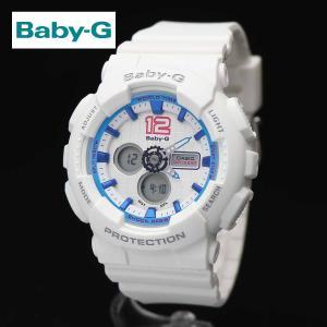 安心2年保証 BABY-G(ベビージー)CASIO(カシオ)BA-120-7B スポーツユニフォームシリーズ アナログデジタル ホワイト・ブルー 白・青|around