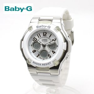 安心2年保証 BABY-G ベビージー ベビーg CASIO カシオ 腕時計 ホワイト シルバー BGA-110-7B アナログ デジタル 白 アナデジ 防水 軽量 シンプル スポーティ|around