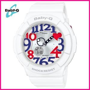安心2年保証】BABY-G(ベビージー)CASIO(カシオ)腕時計 ネオンイルミネーター レディース ホワイト(白色)・トリコロール(青・赤色) アナデジ BGA-130TR-7B|around