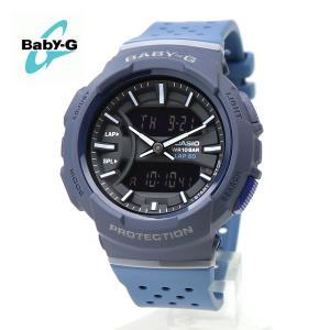 【安心2年保証】60本ラップメモリー BABY-G ベビージー CASIO カシオ BGA-240-2A1 腕時計 ランニング 防水 軽量 アナログ デジタル ネイビー・ブラック|around