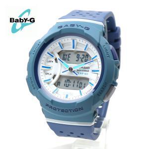 【安心2年保証】60本ラップメモリー BABY-G ベビージー CASIO カシオ BGA-240-2A2 腕時計 ランニング 防水 軽量 アナログ デジタル ネイビー・ホワイト|around