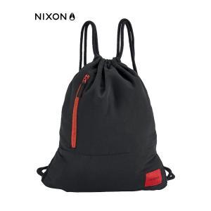 NIXON(ニクソン)ナップサック リュックサック エブリデイシンチ C2429-008 ブラック・レッド 黒色 赤色 スポーツバッグ シューズバッグ A4サイズ around