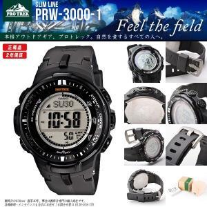 プロトレック PROTREK 電波ソーラー カシオ 腕時計 PRW-3000-1 PRW3000-1 同型:PRW-3000-1JF around