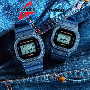 ペアウォッチ DW-5600DE-2 BGD-560DE-2 G-SHOCK Baby-G CASIO メンズ レディース デニムカラー  インディゴ ブルー  四角 スクエア デジタル|around