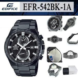 安心2年保証 CASIO カシオ EDIFICE エディフィス ブラック EFR-542BK-1A 1/20秒 クロノグラフ 100M防水  黒|around