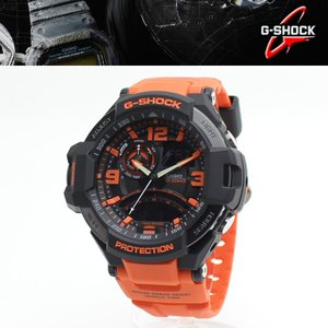 安心2年保証 G-SHOCK(ジーショック)CASIO(カシオ) 腕時計 スカイコクピット SKY COCKPIT デジタル×アナログ「GA-1000-4A」オレンジ ブラック