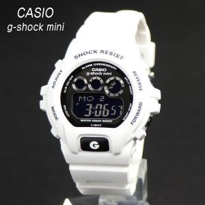 安心2年保証 CASIO G-shock mini GMN-691-7AJF カシオ ジーショック ミニ レディース キッズ ホワイト ブラック 三つ目 防水 軽量 女性用|around