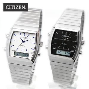 CITIZEN ANA-DIGI JM0540 ホワイト ブラック シチズン アナデジ クロノ デジタル アナログ 腕時計 シルバー ステンレス 国内未発売モデル 海外限定モデル|around