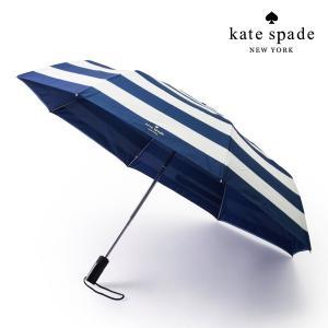 kate spade ケイトスペード 携帯用雨傘 折り畳み傘 175140 マリンストライプ ネイビー(紺色) ホワイト(白色) 女性用 レディース 携帯用 通勤 通学 旅行|around