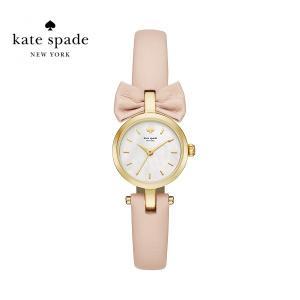 kate spade KSW1057 mini bow ミニ ボウ ケイトスペード 女性 アナログ ホワイトパール ゴールド ベージュ レザーベルト レディースウォッチ|around