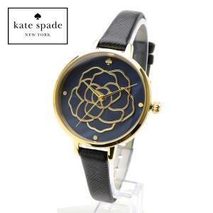 kate spade  KSW1182 ケイトスペード 女性用 腕時計 Metro Rose メトロ ローズ ブラックパール ゴールド ブラック レザーベルト レディース アナログ|around