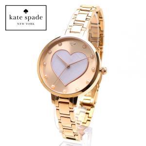 kate spade KSW1216 ケイトスペード Gramercy Heart グラマシー ハート 女性用 腕時計 ホワイトシェル ローズゴールド レディース|around
