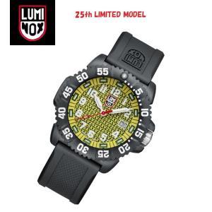 安心2年保証 LUMINOX ルミノックス 25周年 限定モデル 腕時計 3055.25th  メンズ腕時計 3050シリーズ イエロー・黄色 3051 around