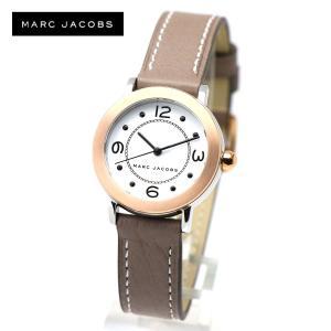 安心2年保証 MARC JACOBS 腕時計 ホワイト ローズゴールド MJ1605 RILEY ライリー マークジェイコブス レディース ウォッチ アナログ グレージュ レザーベルト|around