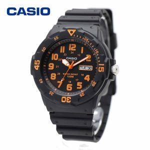 CASIO カシオ MRW-200H-4BV ブラック・オレンジ ダイバールック シンプル スタンダード アナログ ウォッチ|around
