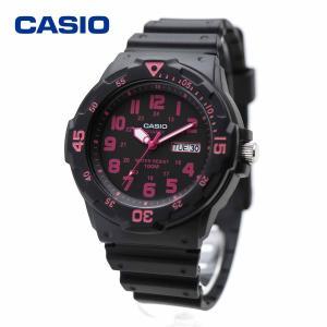 CASIO カシオ MRW-200H-4CV ブラック・ピンク ダイバールック シンプル スタンダード アナログ ウォッチ|around