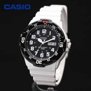 CASIO カシオ MRW-200HC-7BV ホワイト・ブラック ダイバールック シンプル スタンダード アナログ ウォッチ|around