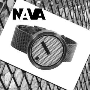 NAVA DESIGN(ナバデザイン)JACQUARD(ジャカード)O603 ブラック 黒色 メンズ レディース ウォッチ 男性用 女性用 腕時計 ナヴァデザイン|around