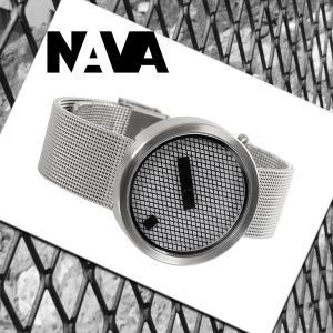 NAVA DESIGN(ナバデザイン)JACQUARD(ジャカード)O605 シルバー 銀色 メンズ レディース ウォッチ 男性用 女性用 腕時計 ナヴァデザイン|around