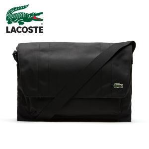 LACOSTE ラコステ フラップバッグ NH1597NE ブラック 黒 ワニ クロコ 斜めがけ ショルダーバッグ 通勤 通学 軽量 A4サイズ メッセンジャー|around