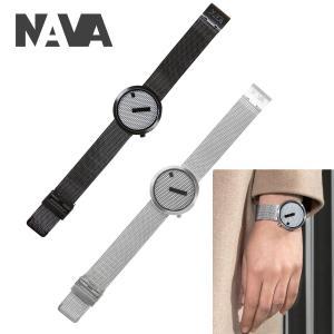 NAVA DESIGN(ナバデザイン)JACQUARD(ジャカード)O603 ブラック O605 シルバー メンズ レディース ウォッチ 男性用 女性用 腕時計 ナヴァデザイン around