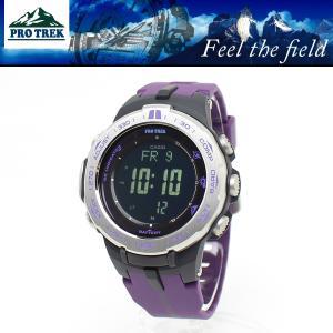 【安心2年保証】CASIO 電波 ソーラー PROTREK(プロトレック)腕時計 トリプルセンサー スリムライン PRW-3100-6  登山用 スポーツウォッチ|around