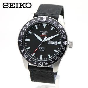 【逆輸入 SEIKO】SEIKO5 SPORTS(セイコーファイブ スポーツ)自動巻 手巻 SRP667K1 オートマティック ブラック 黒色 ミリタリー ナイロンストラップ|around