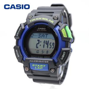 CASIO STL-S110H-1B カシオ タフソーラー  ソーラー 1/100秒 ストップウォッチ トレーニング ジョギング フィットネス スポーツウォッチ ブラック ブルー|around