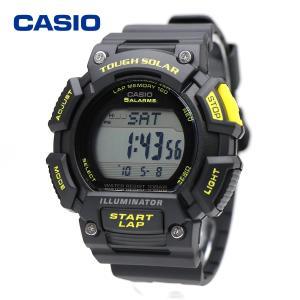 CASIO STL-S110H-1C カシオ ソーラー ラップ メモリー ストップウォッチ トレーニング ジョギング フィットネス スポーツウォッチ ブラック イエロー|around