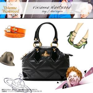 【アウトレット特価】VIVIENNE WESTWOOD ヴィヴィアンウエストウッド ハンドバッグ かばん 女性用 6108V HARLEQUIN 牛革 エナメル ブラック 黒 around
