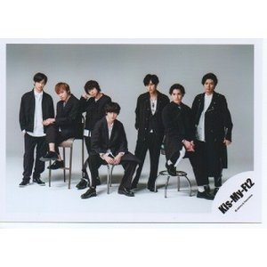 Kis-My-Ft2/キスマイ 集合 公式生写真/Yummy!!・衣装黒×白・3人座り|arraysbook