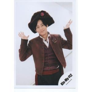 藤ヶ谷太輔(Kis-My-Ft2/キスマイ) 公式生写真/赤い果実・衣装茶色×白・帽子・カメラ目線・口閉じ|arraysbook