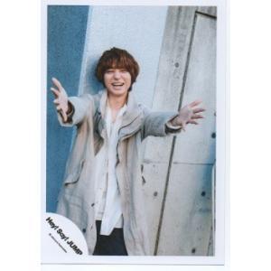 伊野尾慧(Hey!Say!JUMP) 公式生写真/OVER THE TOP・衣装ベージュ×白・口開け・両手のばし|arraysbook