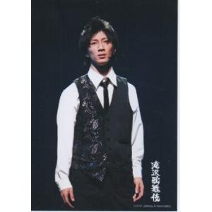 濱田崇裕(ジャニーズWEST) 公式生写真/滝沢歌舞伎2012・衣装白×黒・背景黒|arraysbook
