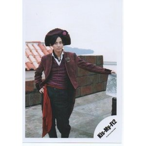 藤ヶ谷太輔(Kis-My-Ft2/キスマイ) 公式生写真/赤い果実・衣装赤×黒・帽子・カメラ目線・口閉じ|arraysbook