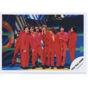 Hey!Say!JUMP 集合 公式生写真/ウィークエンダー・衣装赤・背景青×黄色×緑|arraysbook
