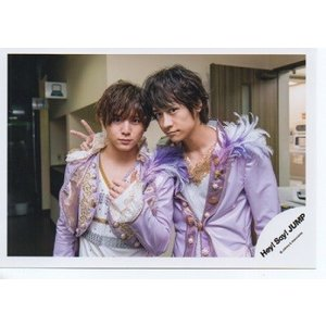 山田涼介&八乙女光(Hey!Say!JUMP) 公式生写真/chau#・衣装紫×白・カメラ目線|arraysbook