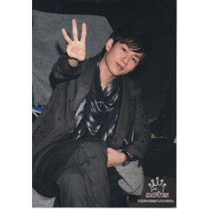 中丸雄一(KAT-TUN) 公式生写真/2010年・衣装黒・カメラ目線・口閉じ arraysbook