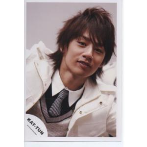 中丸雄一(KAT-TUN) 公式生写真/衣装白×黒・カメラ目線・背景グレー arraysbook