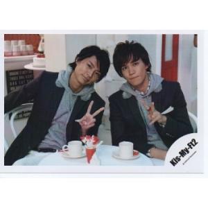 横尾渉&千賀健永(Kis-My-Ft2/キスマイ) 公式生写真/SNOW DOMEの約束・衣装黒×グレー・カメラ目線|arraysbook