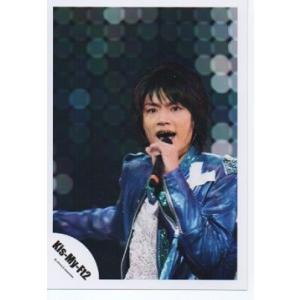 横尾渉(Kis-My-Ft2/キスマイ) 公式生写真/衣装青×白・マイク持ち・口開け|arraysbook