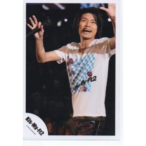 横尾渉(Kis-My-Ft2/キスマイ) 公式生写真/衣装白×水色・口開け・マイク持ち|arraysbook